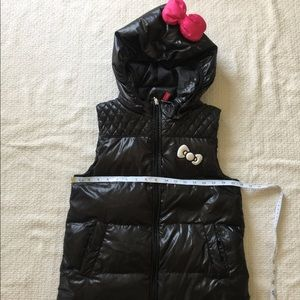 Hello Kitty Kilara Black Hooded Puffer Vest Sz S